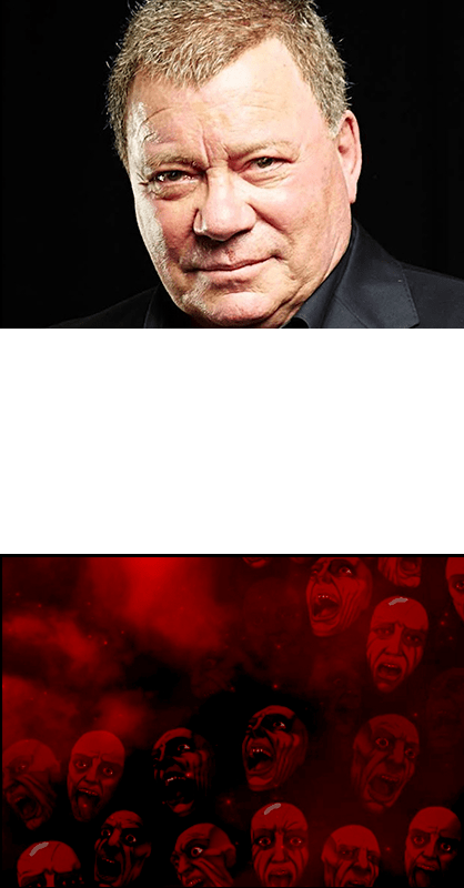 William Shatner as The Overseer in To Your Last Death